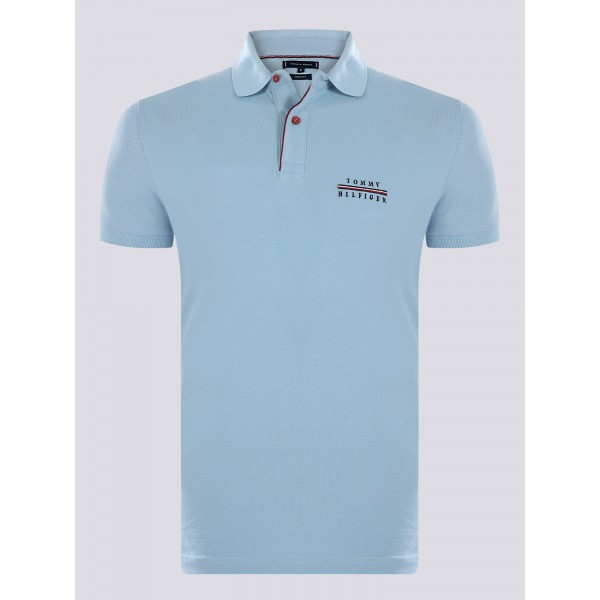 PACK 5 Tommy Hilfiger polo shirt light blue 0