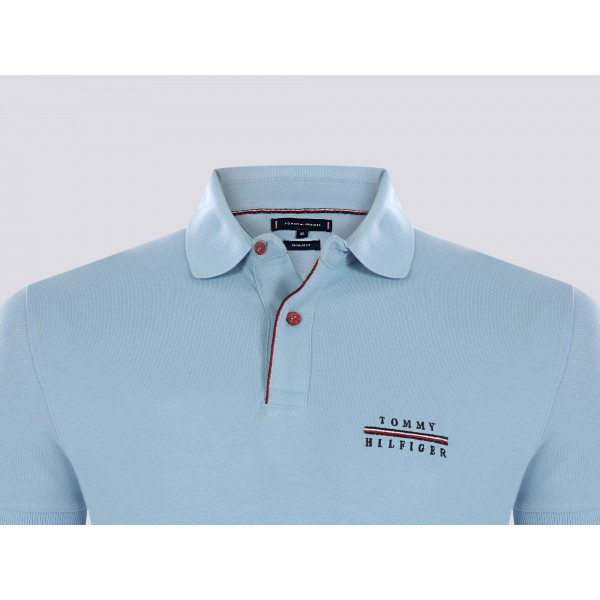 PACK 5 Tommy Hilfiger polo shirt light blue 2