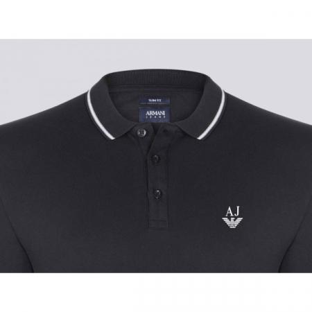 PACK 10 ARMANI JEANS Polo Shirt-Black1