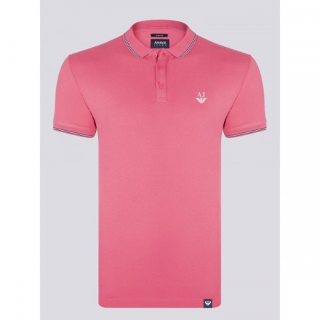 PACK 10 ARMANI JEANS Polo Shirt-Fuchsia slim fit0