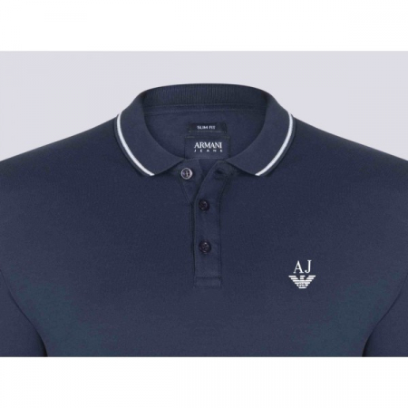 PACK 10 ARMANI JEANS Polo Shirt-Navy slim fit1