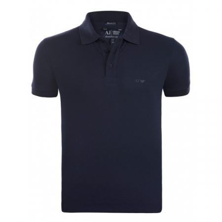 PACK 10 ARMANI JEANS Classic Polo Shirt Navy Muscle fit0