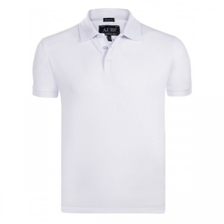 PACK 10 ARMANI JEANS Classic Polo Shirt White-Muscle fit0