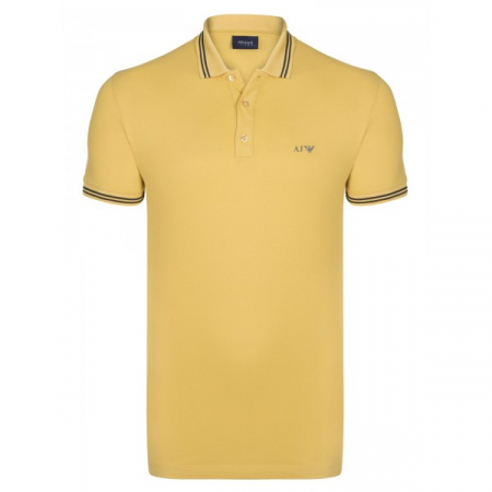 PACK 10 ARMANI JEANS Polo Shirt with contrast stripes -Yellow0