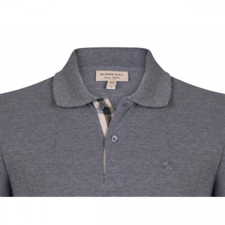 PACK 10 BURBERRY Hartford Polo Shirt in Dark Charcoal Melange1