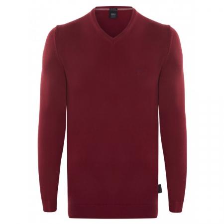 PACK 10 Hugo Boss BLACK LABEL V-Neck Sweater - Bordeaux0