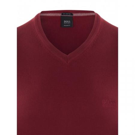 PACK 10 Hugo Boss BLACK LABEL V-Neck Sweater - Bordeaux1