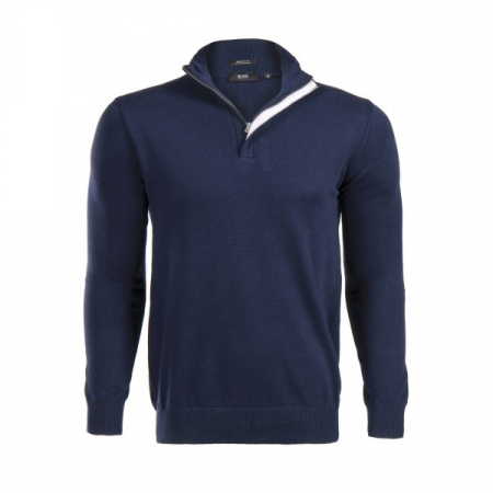 PACK 5 HUGO BOSS BLACK LABEL zip front jumper – Navy0
