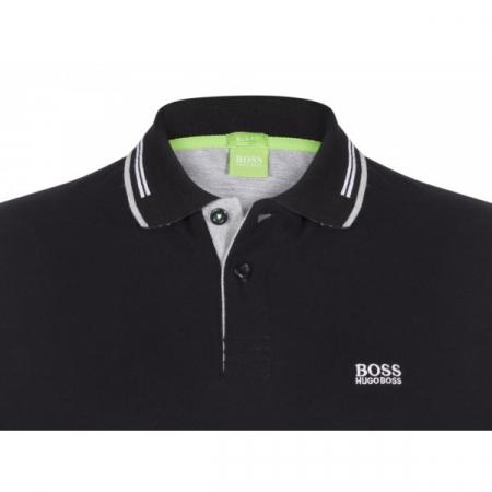 PACK 10 HUGO BOSS GREEN Label Poloshirt Paddy - Black1