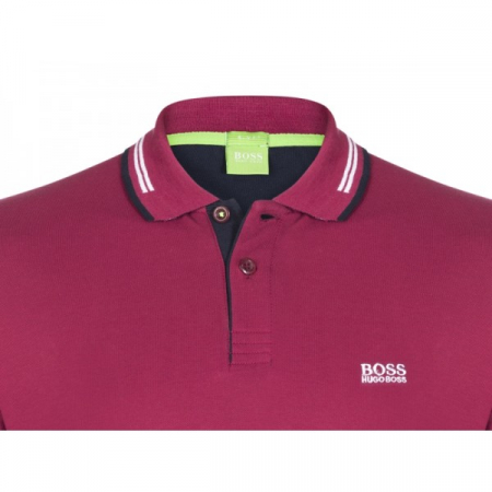 PACK 10 HUGO BOSS GREEN Label Poloshirt Paddy - Bordeaux1