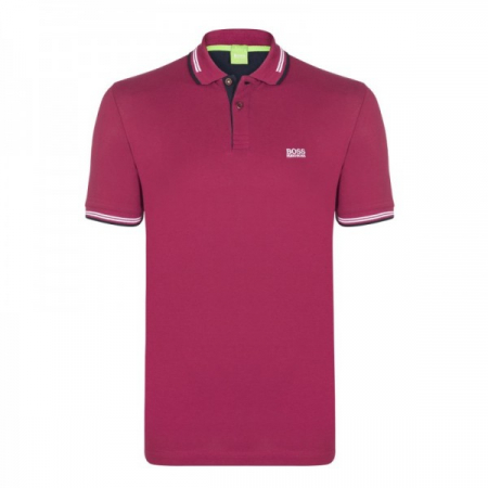 PACK 10 HUGO BOSS GREEN Label Poloshirt Paddy - Bordeaux0
