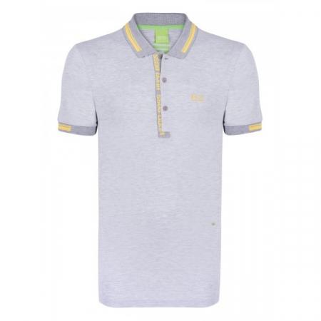 PACK 10 HUGO BOSS GREEN Label Poloshirt Paddy - Gray/Yellow1
