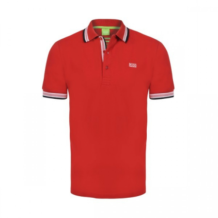 PACK 10 HUGO BOSS GREEN Label Poloshirt Paddy - Red0
