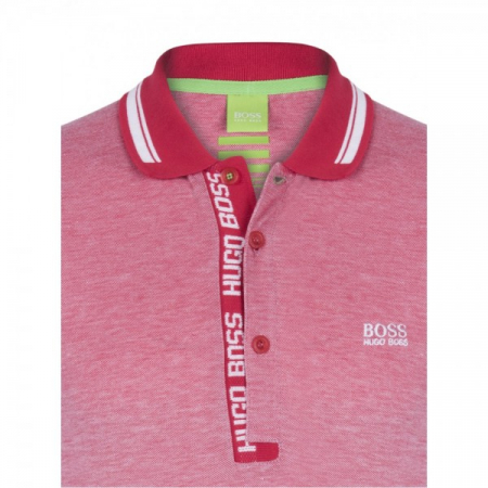 PACK 10 HUGO BOSS GREEN Label Poloshirt Paddy - Red/White0