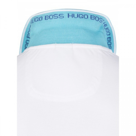 PACK 10 HUGO BOSS GREEN Label Poloshirt Paddy - White/Blue2