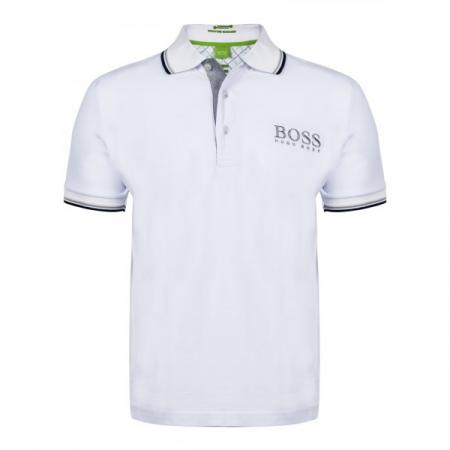 PACK 10 HUGO BOSS GREEN Label Poloshirt Paddy - White0