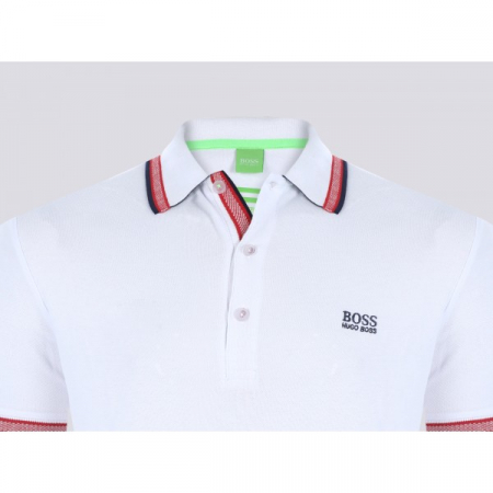 PACK 10 HUGO BOSS GREEN Label Poloshirt Paddy - White_21