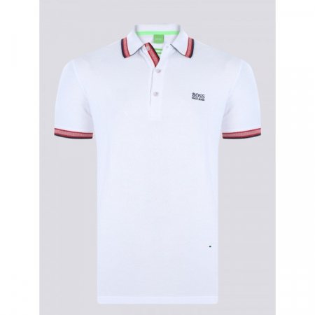 PACK 10 HUGO BOSS GREEN Label Poloshirt Paddy - White_20