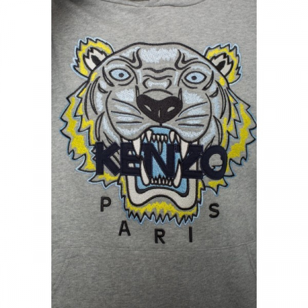 PACK 5 Kenzo Icon Classic Tiger Pullover Hoodie – Gray2