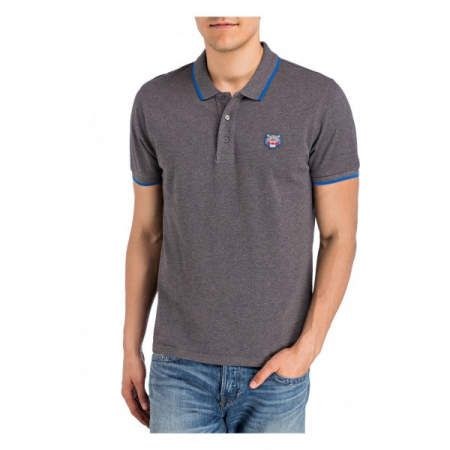 PACK 5 Kenzo  Cotton Polo Shirt -Antracite0