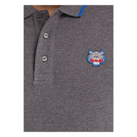 PACK 5 Kenzo  Cotton Polo Shirt -Antracite1