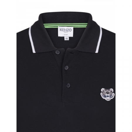 PACK 5 Kenzo  Cotton Polo Shirt -Black1