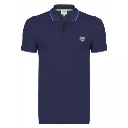 PACK 5 Kenzo  Cotton Polo Shirt -Blue Navy0
