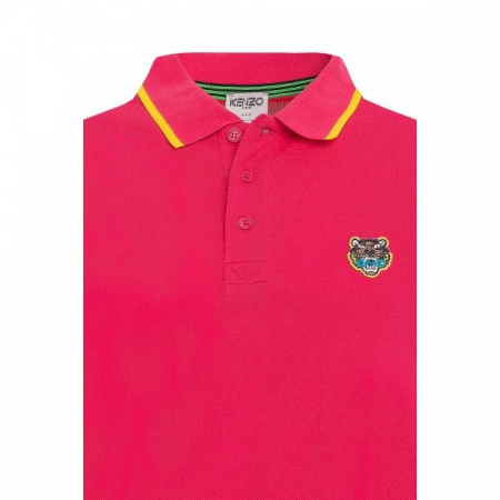 PACK 5 Kenzo  Cotton Polo Shirt - Pink1