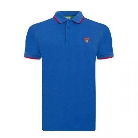 PACK 5 Kenzo  Cotton Polo Shirt -Blue Sax0