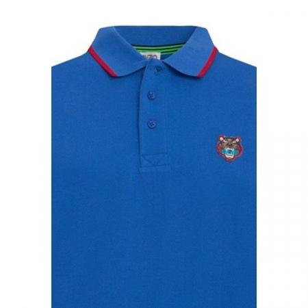 PACK 5 Kenzo  Cotton Polo Shirt -Blue Sax1