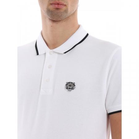 PACK 5 Kenzo  Cotton Polo Shirt -White1