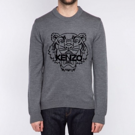 PACK 5 KENZO - Tiger Logo sweatshirt -Gray0