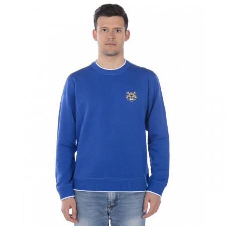 PACK 5 KENZO - Tiger Logo sweatshirt -Blue Sax0