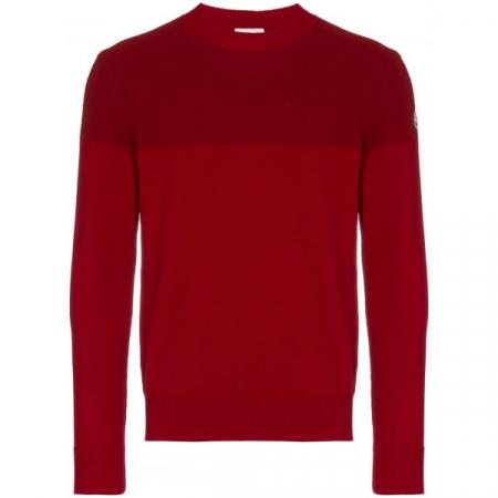 PACK 5 MONCLER Tricot Stripe Virgin Wool Bordeaux / Red0