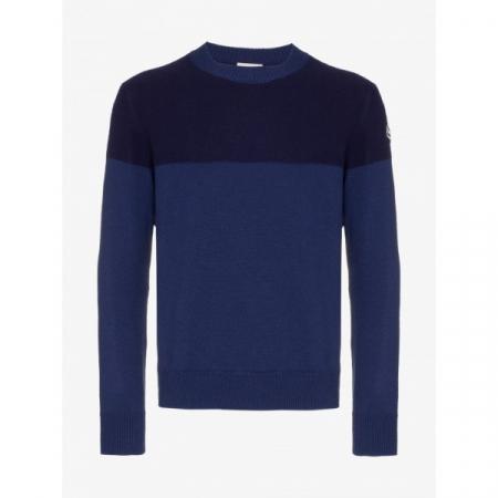 PACK 5 MONCLER tricot stripe virgin wool  Dark Blue / Blue0