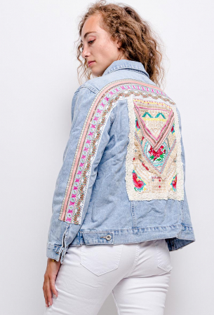 PACK 10 STARBEST Denim jacket with embroidery0
