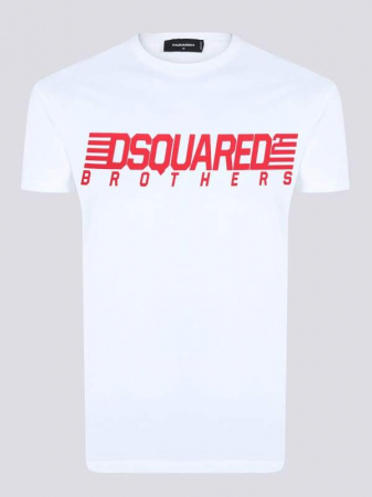 PACK 10 Dsquared2 Men's T-Shirts White/Red1