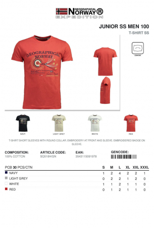 PACK 30-GEOGRAPHICAL NORWAY T-Shirt SS3