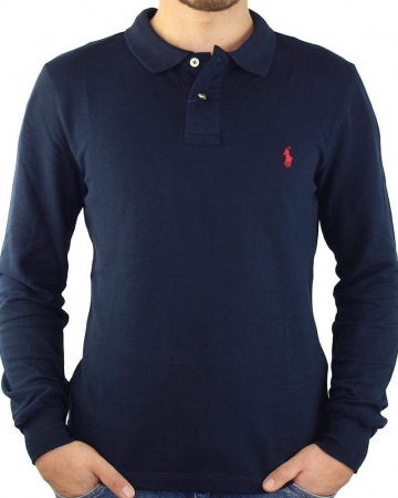 PACK 10 Ralph Lauren Men's Polo Shirts Long Sleeve Small Pony2