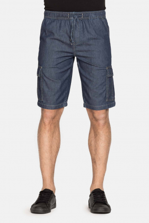 SHORT CARGO IN LIGHT DENIM STYLE 6290