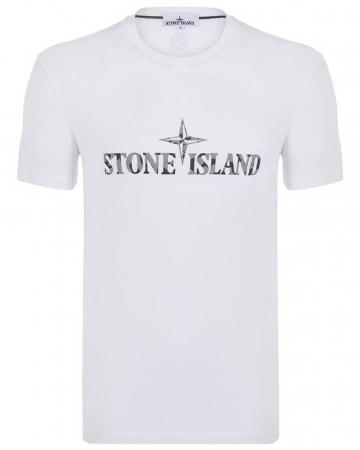PACK 10 Stone Island Men's Crew Neck Big Brand T-Shirts white0
