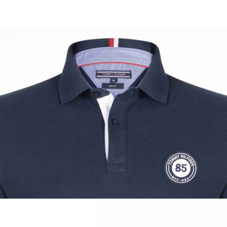 PACK 5 Tommy Hilfiger men's polo shirt BADGE 85 blue navy2