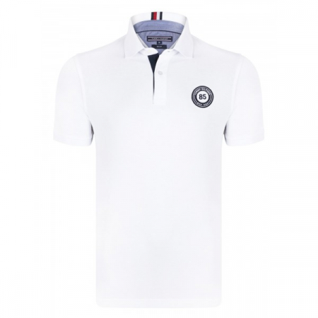PACK 5 Tommy Hilfiger men's polo shirt BADGE 85 white0