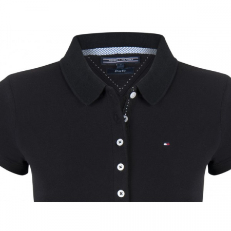 PACK 5 Ladies polo piqué shirt by Tommy Hilfiger black1