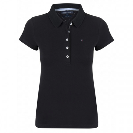 PACK 5 Ladies polo piqué shirt by Tommy Hilfiger black0