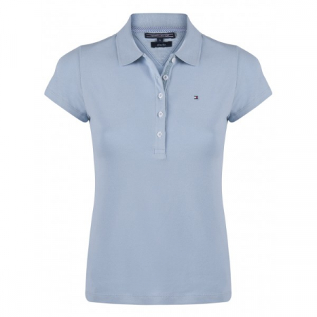 PACK 5 Ladies polo piqué shirt by Tommy Hilfiger light blue0