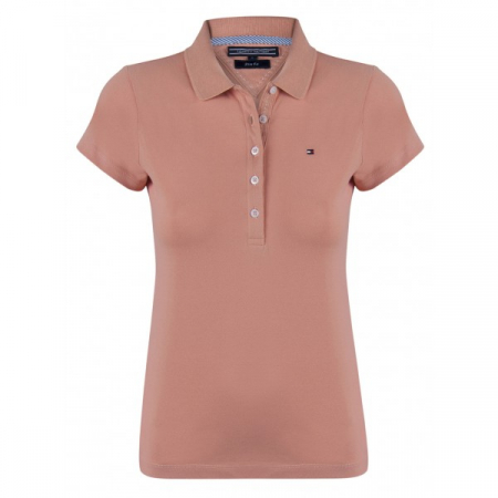 PACK 5 Ladies polo piqué shirt by Tommy Hilfiger light brown0