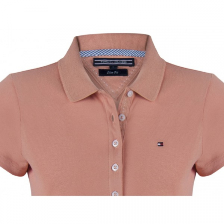 PACK 5 Ladies polo piqué shirt by Tommy Hilfiger light brown1
