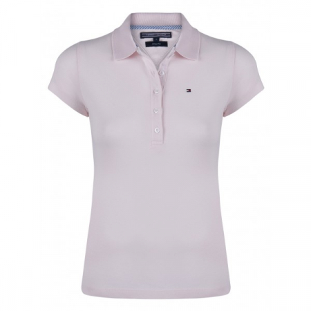 PACK 5 Ladies polo piqué shirt by Tommy Hilfiger pink0