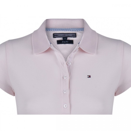 PACK 5 Ladies polo piqué shirt by Tommy Hilfiger pink1